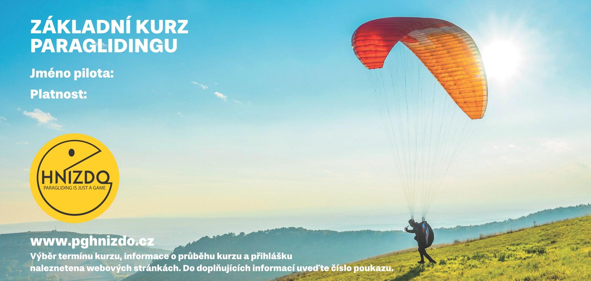 Základní kurz paraglidingu – poukaz